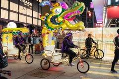 Китайский парад ночи Нового Года Стоковые Изображения