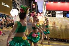 Китайский парад ночи Нового Года Стоковое Фото