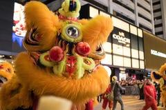 Китайский парад ночи Нового Года Стоковые Фото