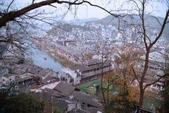Китайский пейзаж древнего города Стоковые Фотографии RF
