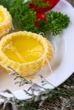 китайский пирог печенья яичка стоковые фотографии rf