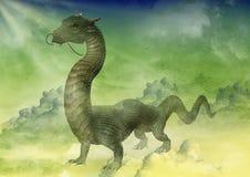 Китайский портрет дракона Стоковые Фотографии RF