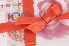 Китайский подарок денег юаней Стоковые Изображения