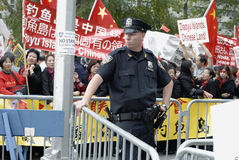 Китайский протест Стоковые Изображения