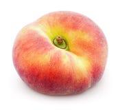 Китайский плоский персик донута на белизне Стоковые Фото