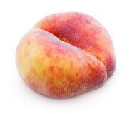 Китайский плоский персик донута на белизне Стоковое Изображение RF