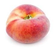 Китайский плоский персик донута на белизне Стоковая Фотография