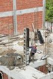 Китайский рабочий-строитель, Hengdian, Китай Стоковое Изображение RF