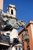 Китайский дракон в Барселоне Стоковые Изображения