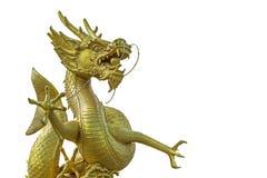 китайский дракон золотистый Стоковое Изображение