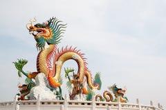 китайский дракон золотистый Стоковое фото RF