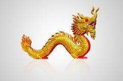 китайский дракон золотистый Стоковая Фотография RF