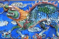 Китайский дракон - красивая античная культура на стене стоковые фотографии rf