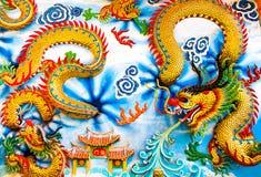 Китайский дракон, Таиланд Стоковая Фотография