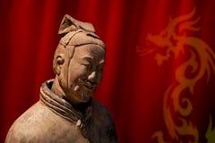китайский ратник terracotta Стоковые Изображения RF