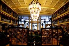 Китайский ресторан, королевская среднеземноморская гостиница Гуанчжоу стоковые изображения rf