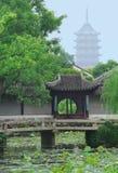 Китайский сад в Сучжоу, около Шанхая стоковая фотография rf