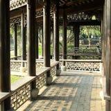 Китайский сад, китайская архитектура Стоковые Фотографии RF