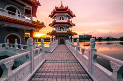 Китайский сад Сингапура Стоковое Фото