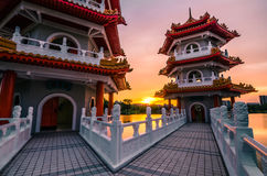 Китайский сад Сингапура Стоковая Фотография