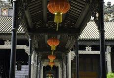 Китайский сад старых старых зданий Стоковое Изображение