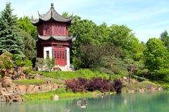 китайский сад montreal стоковые изображения rf