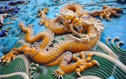 китайский символ силы дракона Стоковое Фото