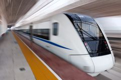 китайский скорый поезд Стоковая Фотография