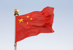 китайский соотечественник флага Стоковое фото RF