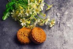 Китайский средний торт луны фестиваля осени стоковая фотография