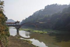 Китайский стародедовский мост свода Стоковое Изображение