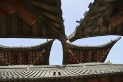 Китайский старый архитектурный стиль стоковое изображение