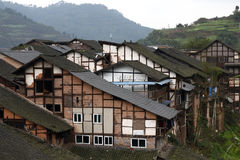 китайский старый городок Стоковое Изображение
