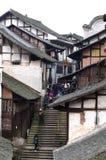 китайский старый городок Стоковые Фотографии RF