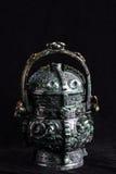 Китайский старый нефрит высекая искусство Стоковое фото RF