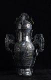 Китайский старый нефрит высекая искусство Стоковые Изображения RF