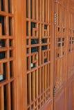 Китайский стиль двери Стоковые Изображения
