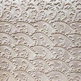 Китайский стиль искусства на декоративной стене с прессформой штукатурки Стоковая Фотография