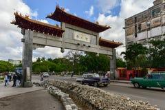 Китайский строб - Гавана, Куба Стоковая Фотография