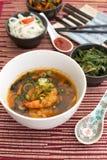 Китайский суп с шримсами Стоковая Фотография