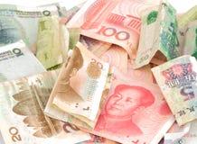 Китайский счет rmb юаней валюты Стоковое Изображение RF