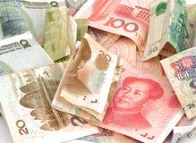 Китайский счет rmb юаней валюты Стоковая Фотография