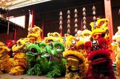 Китайский танец льва Нового Года Стоковое Фото