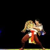 Китайский танцор Qiang этнический Стоковые Изображения RF