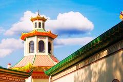 китайский тип дома Стоковое фото RF