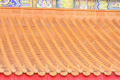 китайский тип крыши Стоковые Изображения RF