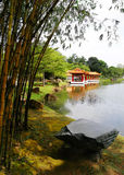 китайский тип озера сада традиционный стоковое изображение