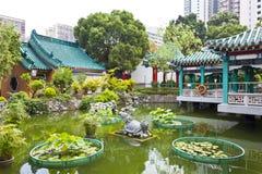 китайский тип сада Стоковое фото RF
