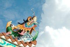 китайский тип статуи дракона Стоковая Фотография