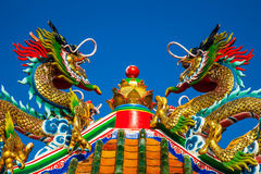 китайский тип статуи дракона Стоковая Фотография RF